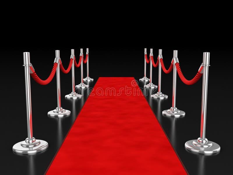 Abbildung des roten Teppichs 3d stock abbildung
