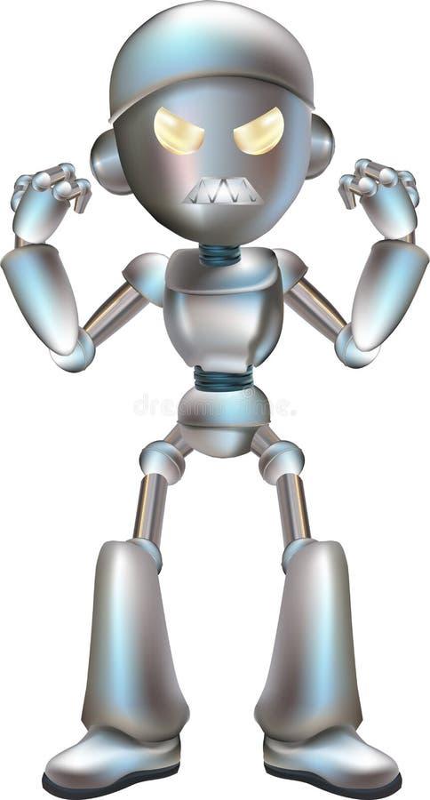 Abbildung des verärgerten Roboters lizenzfreie abbildung