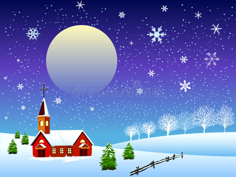 Abbildung des Weihnachtsschnees lizenzfreie abbildung