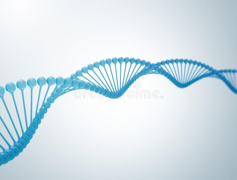 Abbildung DNA-3d vektor abbildung