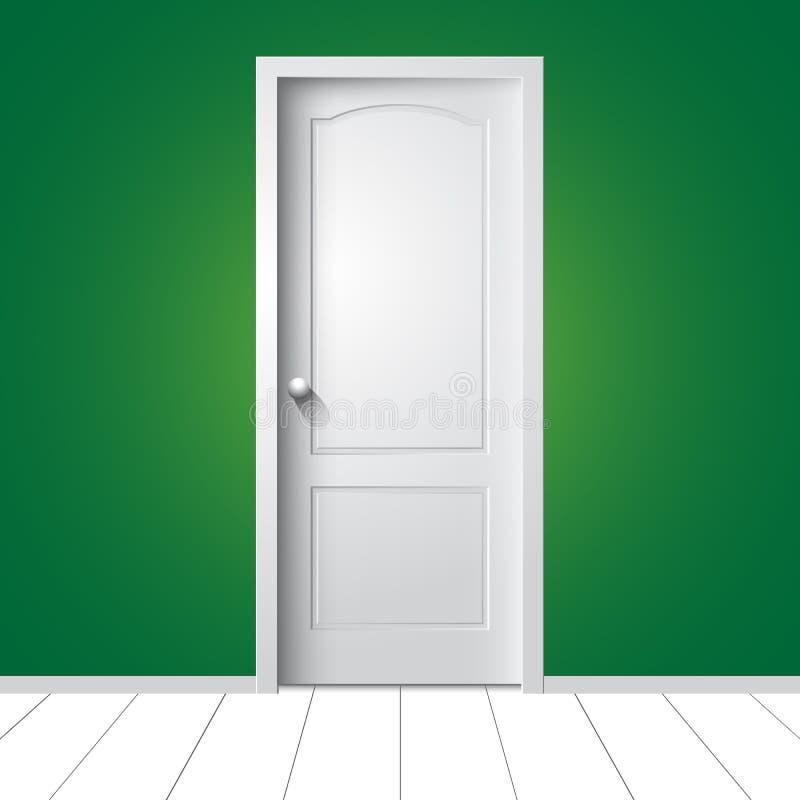 Abbildung einer weißen Tür stock abbildung