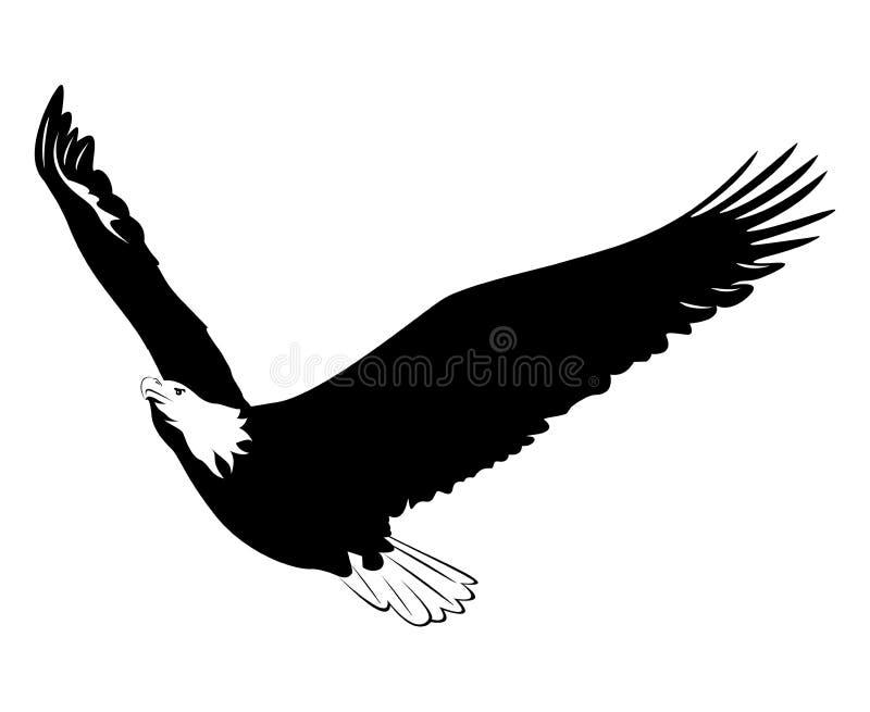 Abbildung eines Adlers stock abbildung