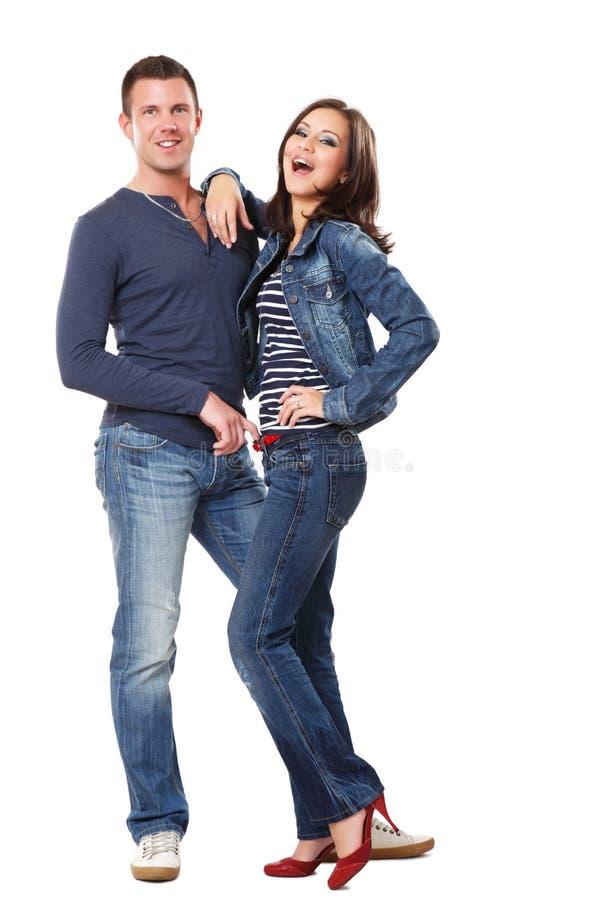 Abbildung eines glücklichen jungen Paares lizenzfreie stockfotos