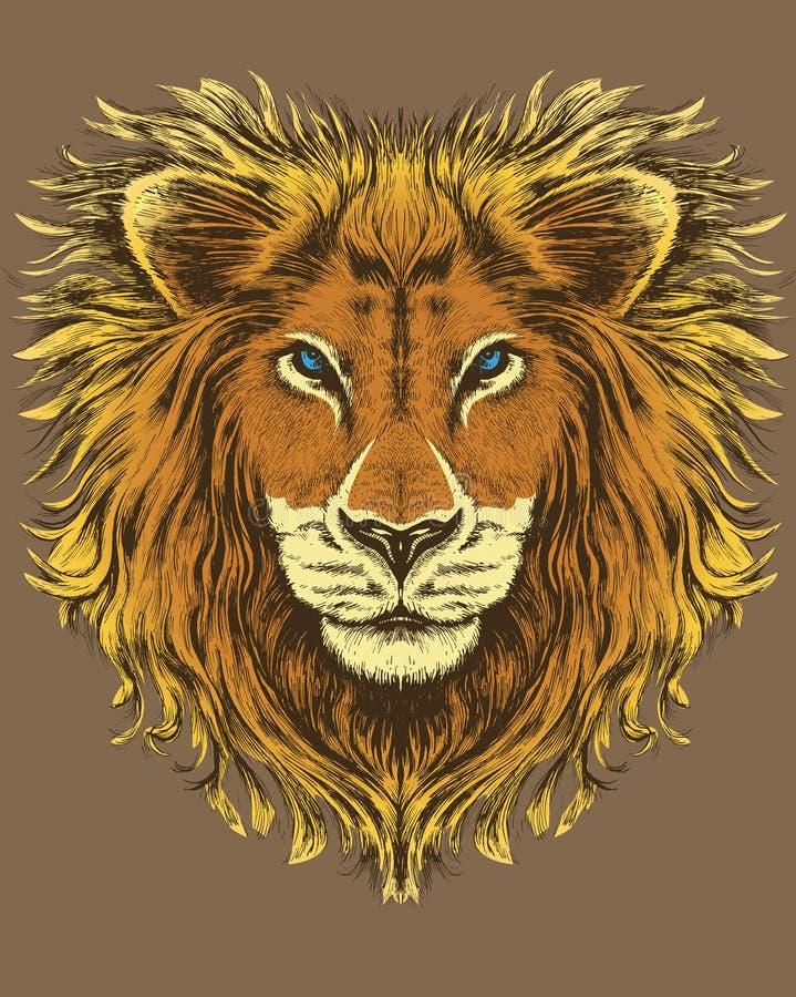 Abbildung eines Löwes stock abbildung