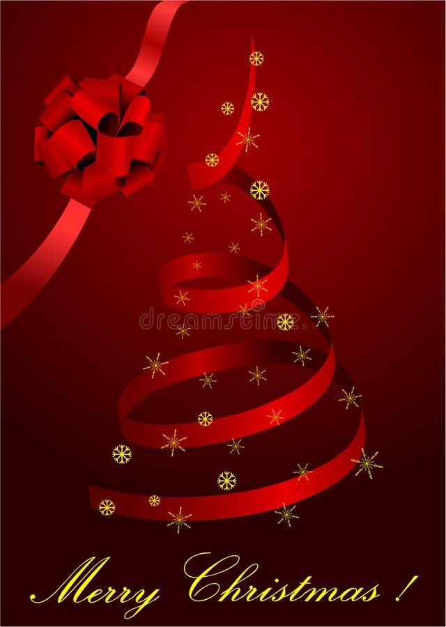 Abbildung eines metaphorischen roten Weihnachtsbaums lizenzfreie abbildung