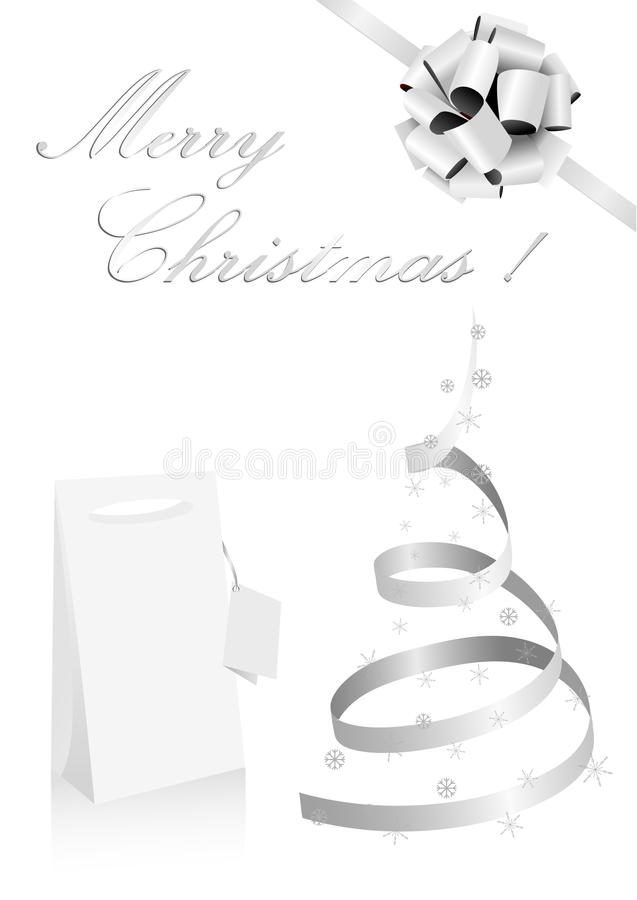 Abbildung eines metaphorischen silbernen Weihnachtsbaums lizenzfreie abbildung