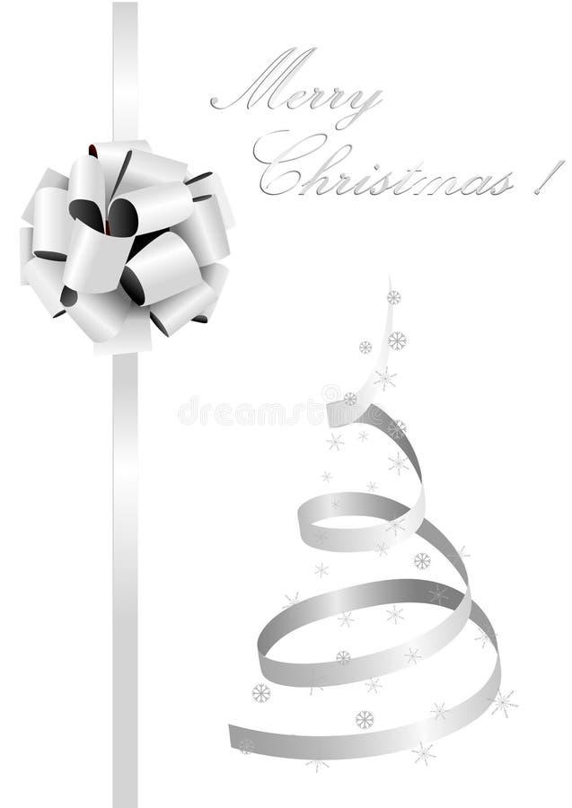 Abbildung eines metaphorischen silbernen Weihnachtsbaums stock abbildung