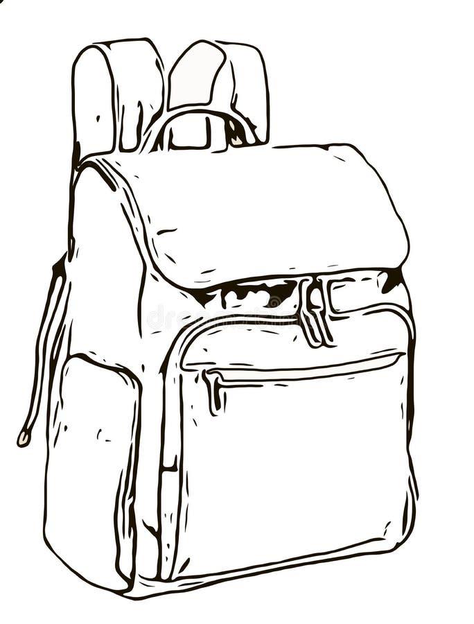 Abbildung eines Rucksacks lizenzfreie stockbilder