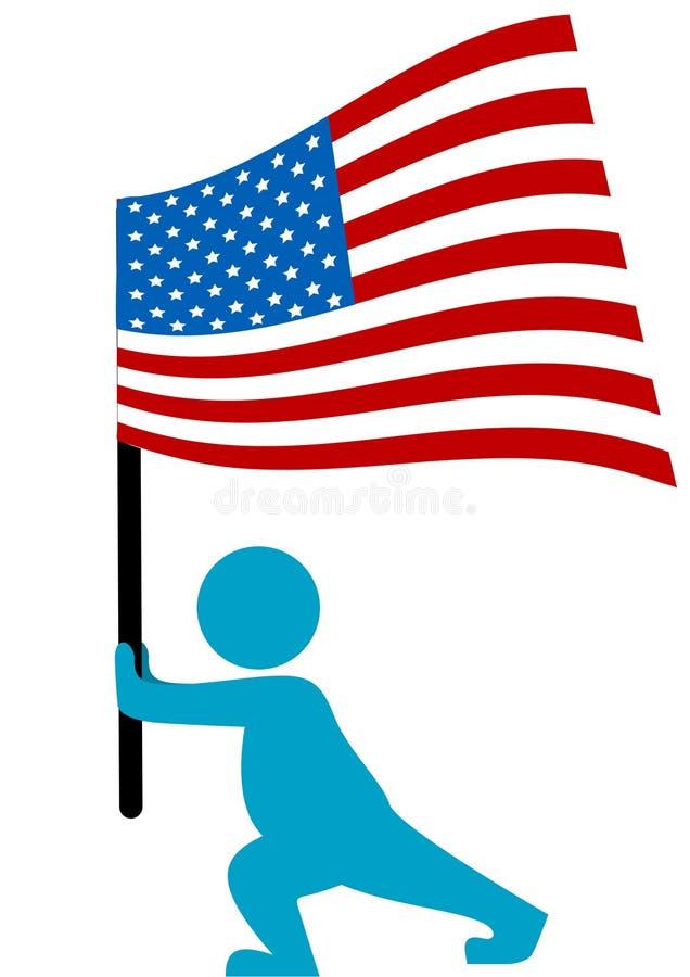 Abbildung eines Schattenbildes, das amerikanisches Florida strömt stock abbildung