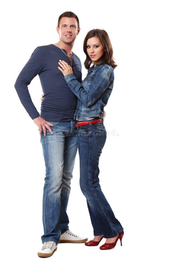 Abbildung eines stattlichen Mannes mit einer reizvollen Frau stockfotografie