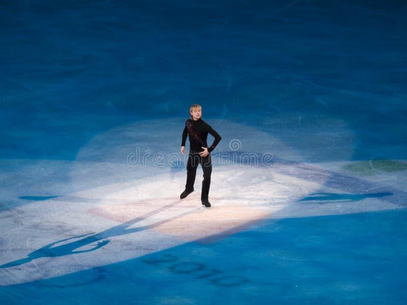 Abbildung Eislauf-olympische Gala - Evgeni Plushenko stockbild