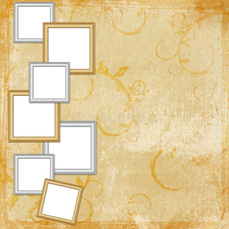 Abbildung-Felder auf abstraktem Hintergrund lizenzfreie abbildung