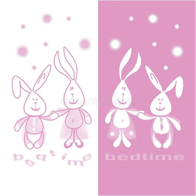 Abbildung 2-Hasen vor Schlafenszeit lizenzfreie stockbilder
