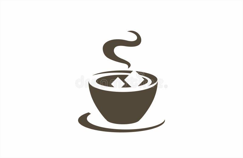 Abbildung Kaffee und mehr Piktogramm des Kaffees lizenzfreie abbildung