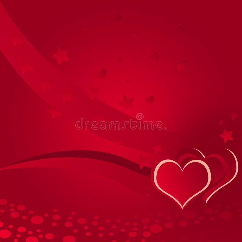 Abbildung, Liebe, Hintergrund spritzend stock abbildung