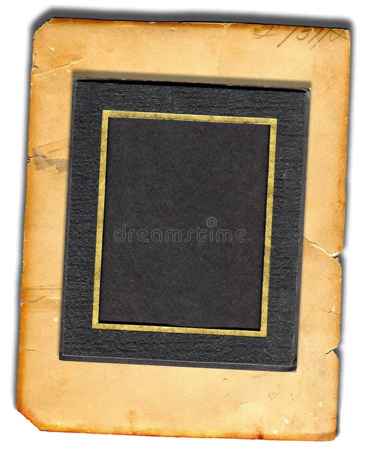 Abbildung-Matte auf altem Papier lizenzfreies stockbild