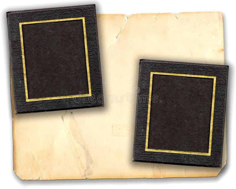 Abbildung-Matten auf altem Papier stockfotografie