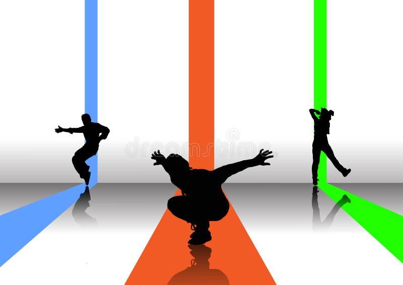 Abbildung mit 3 Tänzern lizenzfreie abbildung