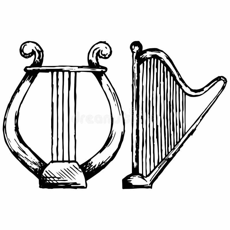Abbildung von Lyre lizenzfreie abbildung