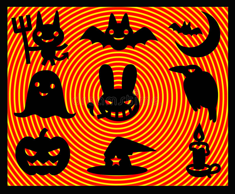 Download Abbildungen Von Helloween Ikonen Stock Abbildung - Illustration von grausigkeit, kürbis: 12201907