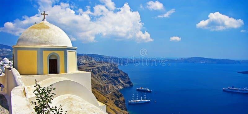 Abbildungen von Santorini stockbild