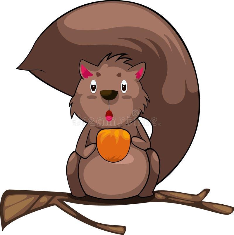 Abbildungkarikatur-Eichhörnchenvektor   lizenzfreie abbildung