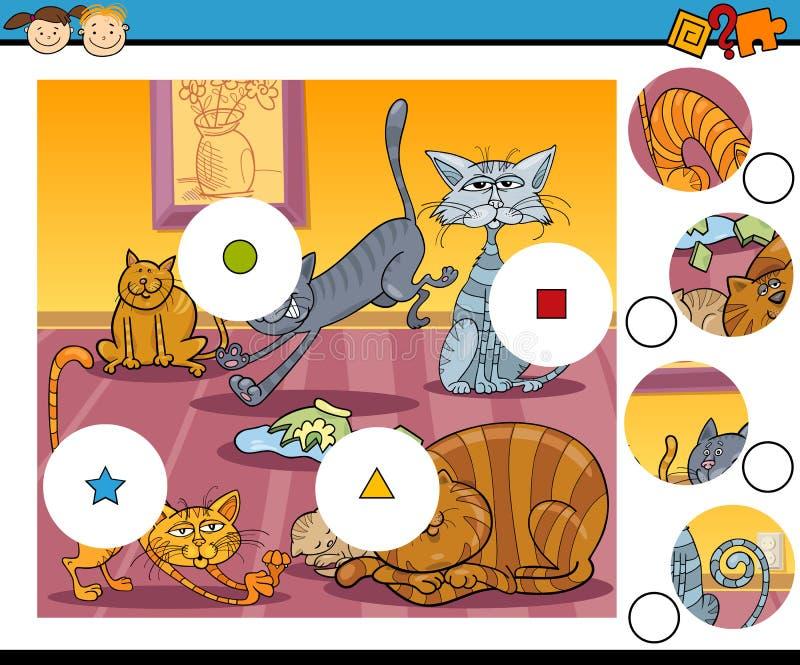 Abbini il fumetto del gioco dei pezzi illustrazione di stock