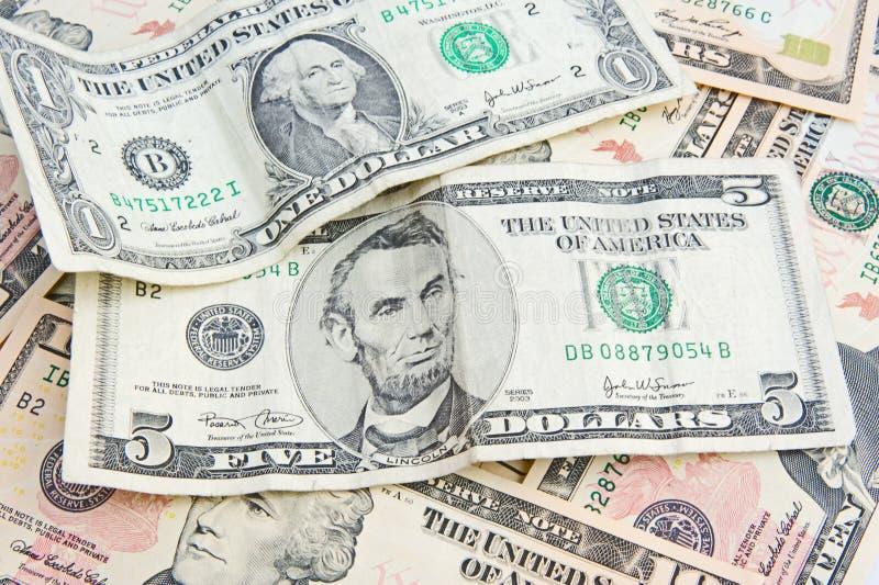 Abbondanza di soldi. fotografia stock libera da diritti