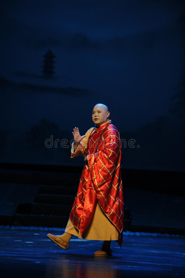 The Abbot- Jiangxi opera a steelyard. Jiangxi opera a steelyard is adapted from a true story: the last century fortys, the protagonists father runs an oil mill royalty free stock photos