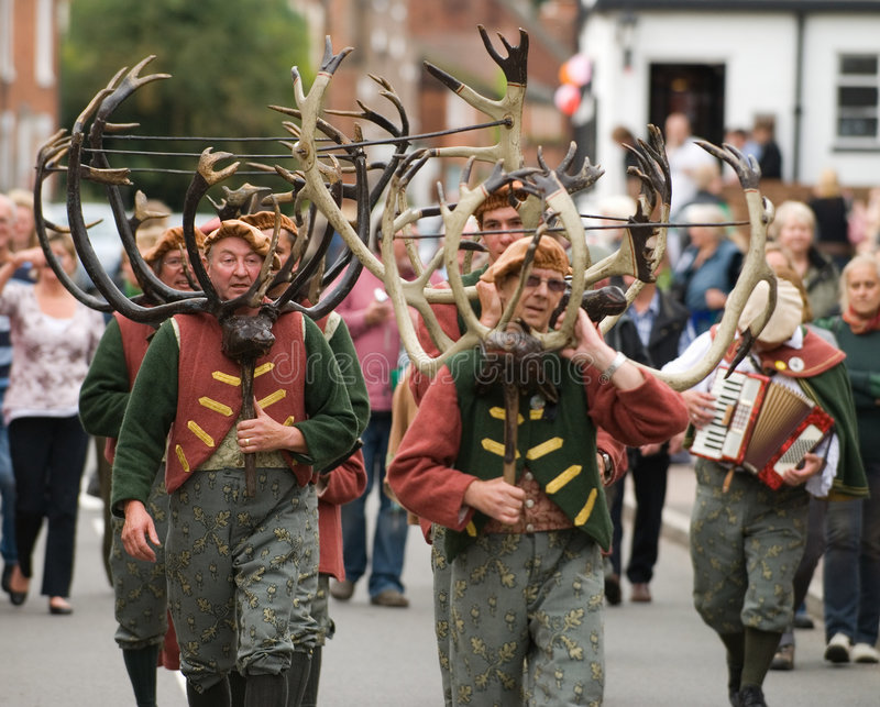 Abbots Bromley Horn Dance Editorial Stock Photo