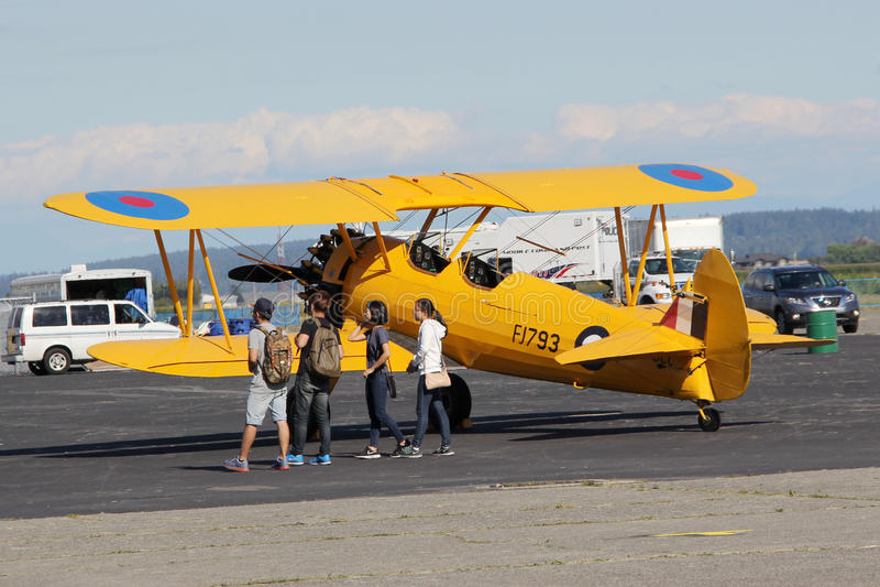 Students at 2016 Boundary Bay Airport Airshow, Delta, BC, Canada royalty free stock images