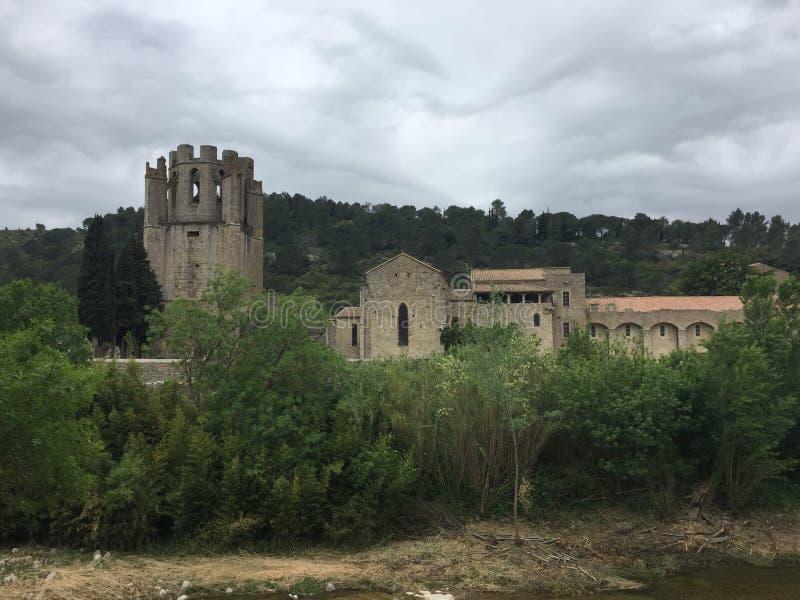Abbotskloster av Carcassonne royaltyfri foto