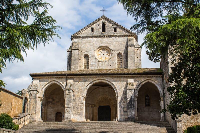 Abbotskloster av Casamari, nära Veroli, Italien royaltyfria foton