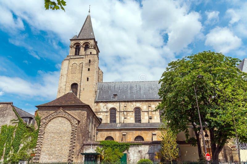 Abbotskloster av Helgon-Germain-des-Pres royaltyfria foton