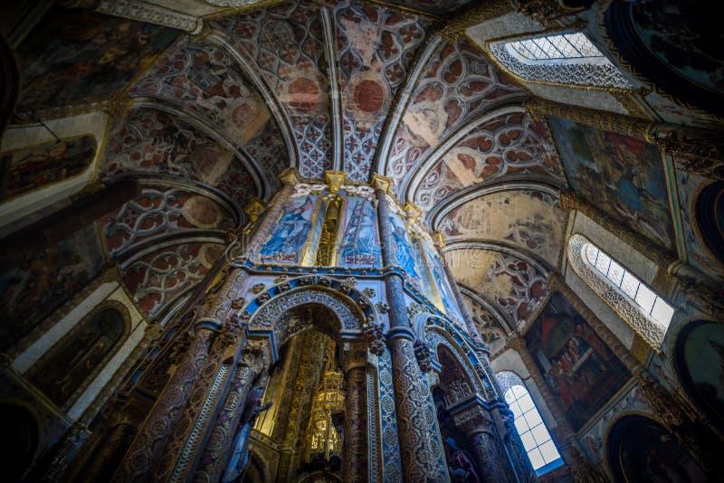 Abbotskloster Convento de Cristo royaltyfria foton