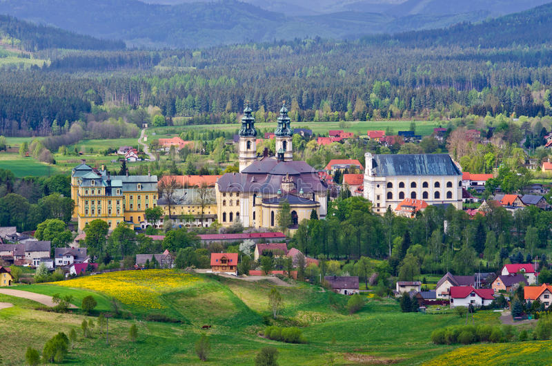 Abbotskloster i Krzeszï ¿ ½ w - lägre Silesia, Polen royaltyfria bilder