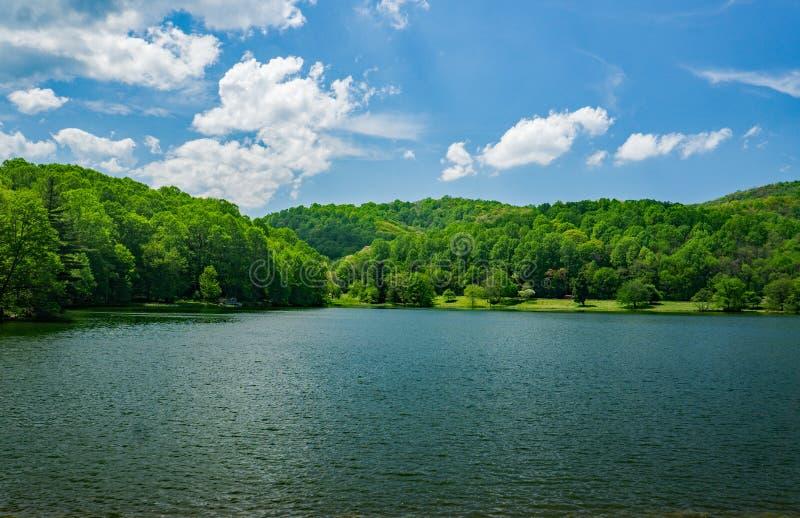 Abbott湖看法在一个春日 免版税库存照片