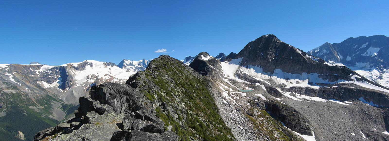 Abbott Ridge, parque nacional de geleira, panorama foto de stock royalty free