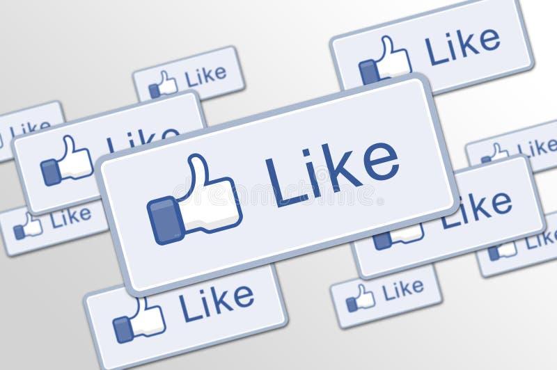 Abbottoni come facebook illustrazione vettoriale