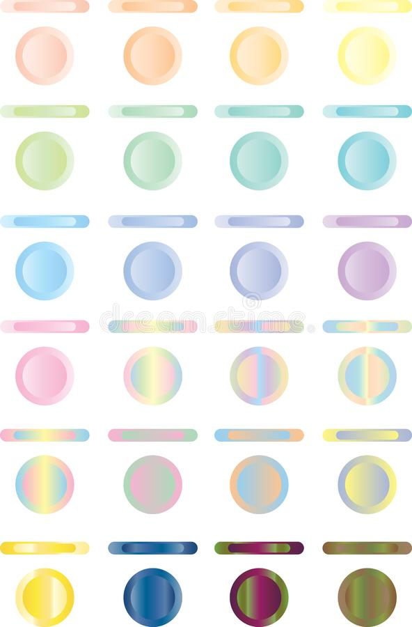 Abbottoni, insieme dei bottoni virtuali di rosso, blu, verde.