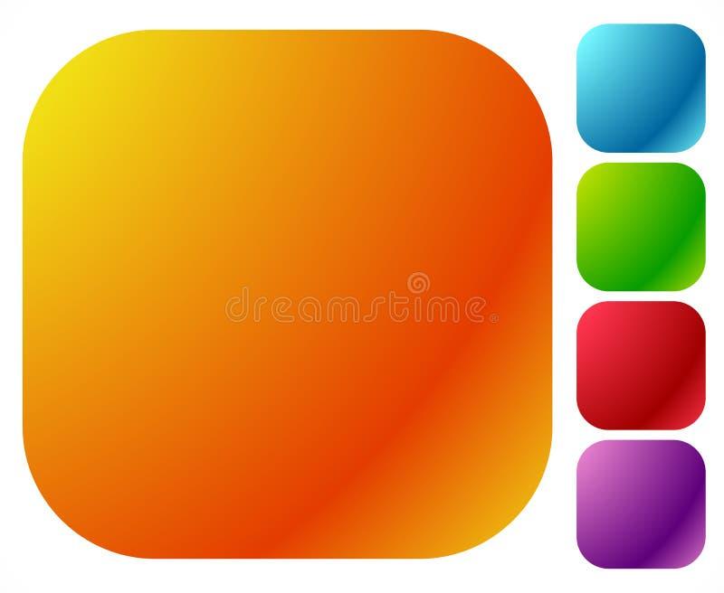 Abbottoni le forme, ambiti di provenienza nel colore lucido luminoso 5 illustrazione vettoriale