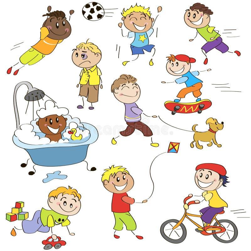 Abbozzi dei ragazzi illustrazione di stock