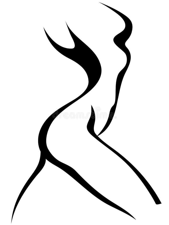 Abbozzo del torso della donna illustrazione di stock