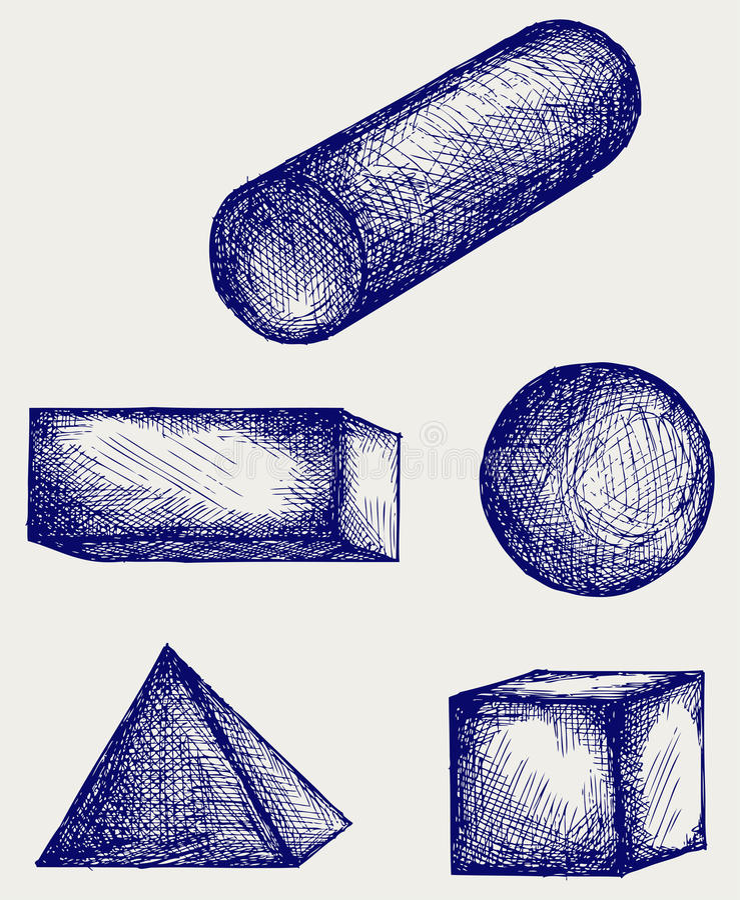 Abbozzo della geometria illustrazione di stock