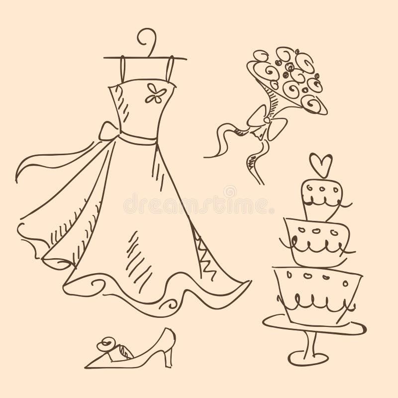 Abbozzo di cerimonia nuziale royalty illustrazione gratis