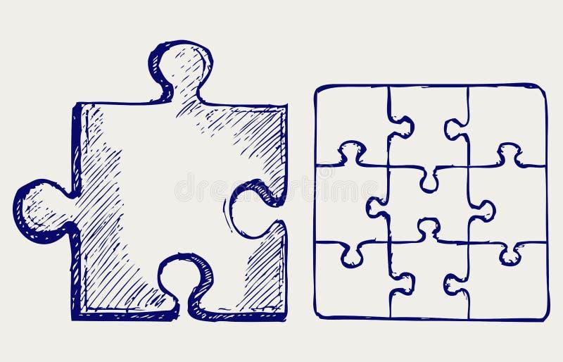Abbozzo di puzzle royalty illustrazione gratis