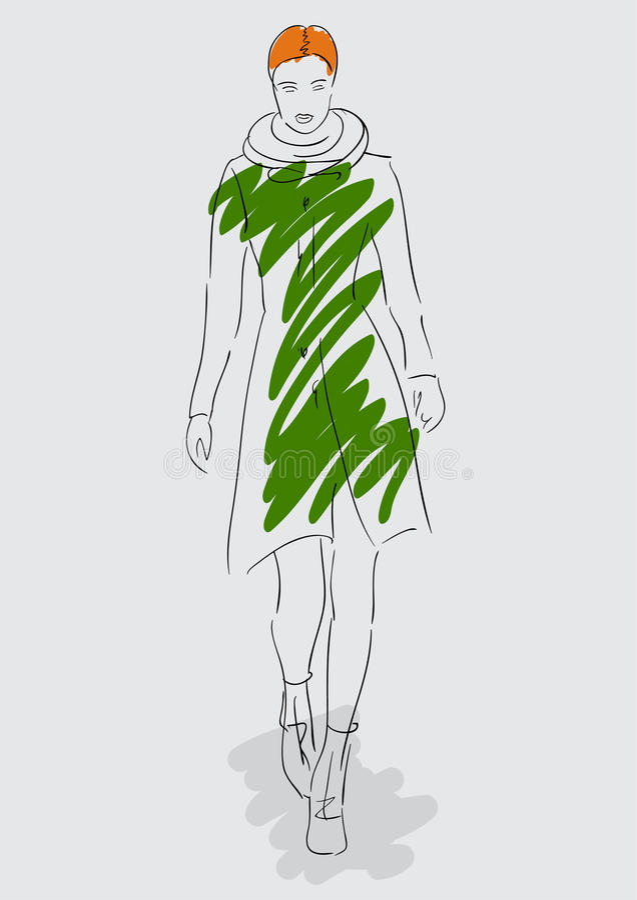abbozzo modelli di modo luminosi di colori bianchi royalty illustrazione gratis