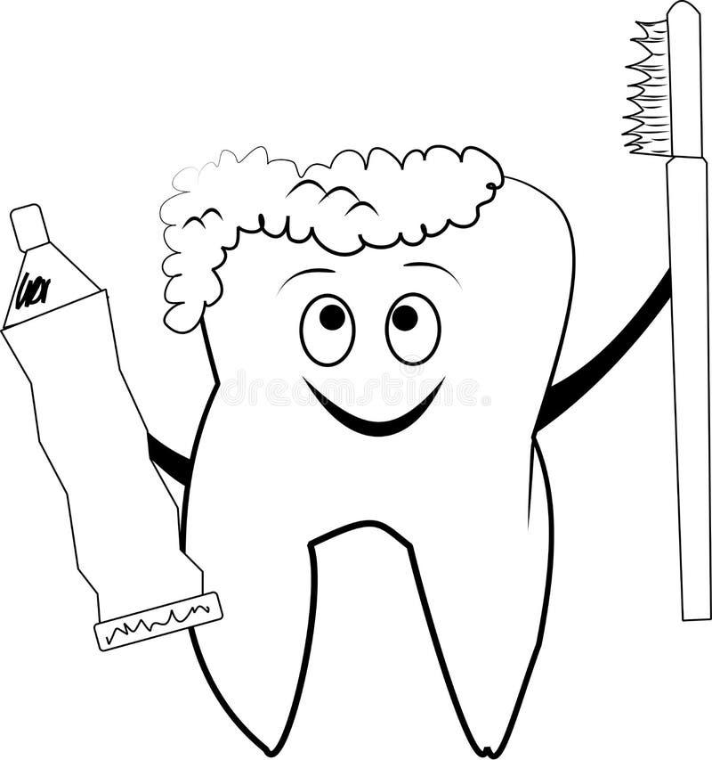 Abbozzo molare sorridente del dente royalty illustrazione gratis