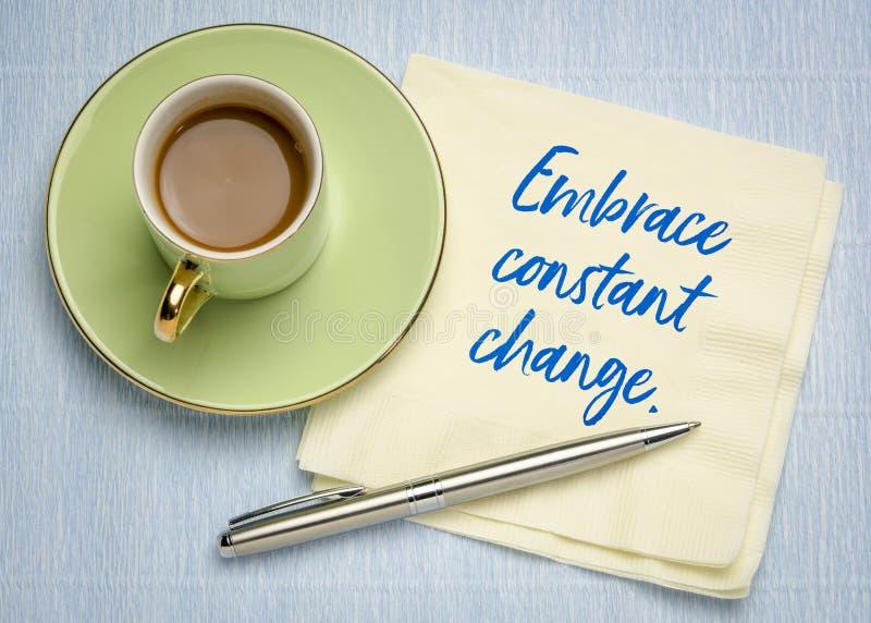 Abbracci il cambiamento costante immagini stock