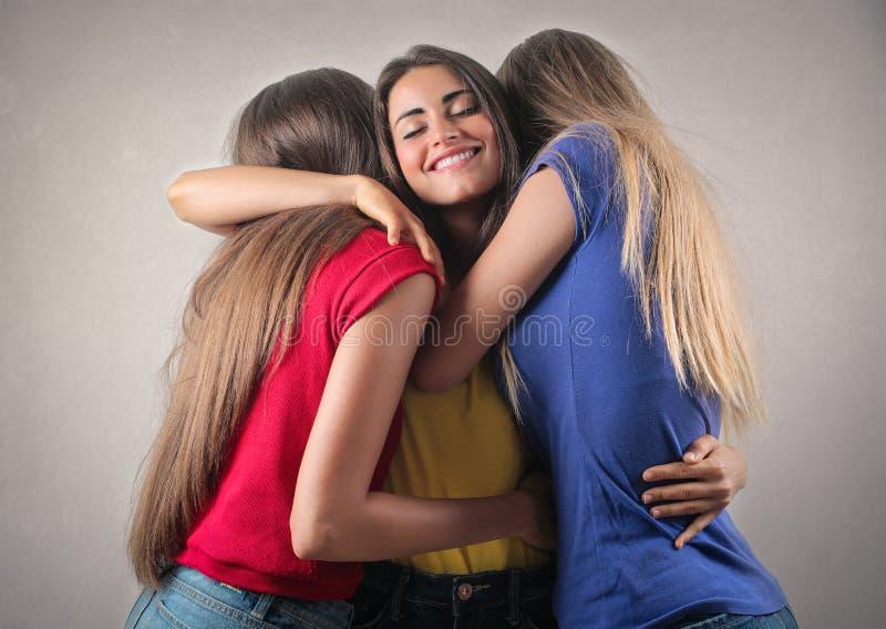 Abbracciare fotografie stock